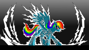 Rainbow Dash, Lightning Rider vectorized by icewindow