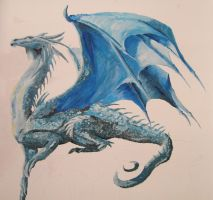 Saphira guarding my room by Mixxysart