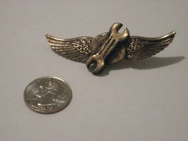 Steampunk Airship flight pin by RandomAdj