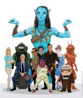 Neytiri and the Oscar Nominees by McQuade