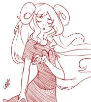 Aradia sketch by LightBell