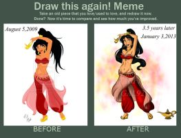 Draw this Again Slave Jasmine by starfiregal92