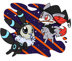 Shiny babies by Lustrous-Dreams
