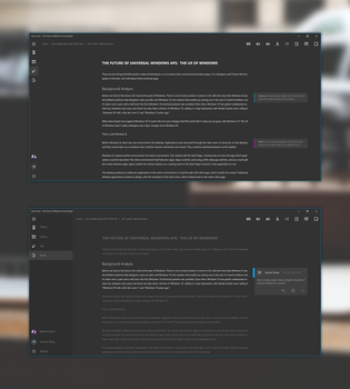 Win10 Writing App Concept by wwsalmon