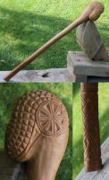 Wooden Mace from medieval Novgorod by Pathgalen