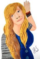 Jennette McCurdy painting by HannahLouLou