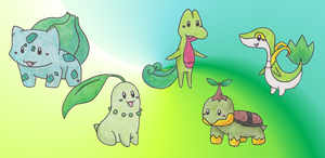 Grass Starter Pokemon by Sera--chan