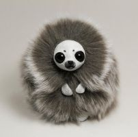 White Seal Furry Creature by RamalamaCreatures