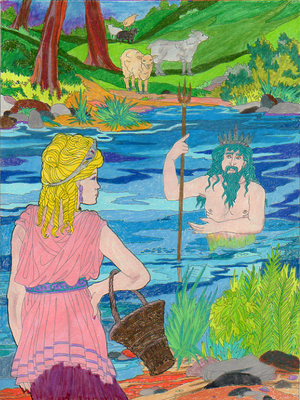 Myth 23 Psyche and the River God