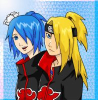 Konan and Deidara by AirRider