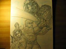 Star Wars Commish WIP by CdubbArt