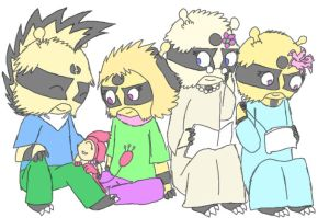Four 'vires and a Skitty by FeralSonic