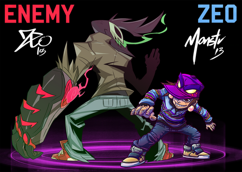 ENEMY vs ZEO by monstrbox