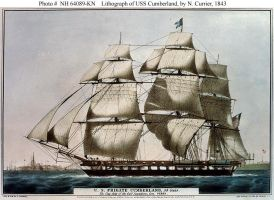 uss cumberland by civil-war-painter