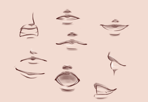 Mouths Practice by GlassLotuses