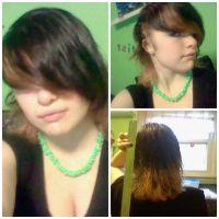 My long hair before the cut it! by DarkWolf1017