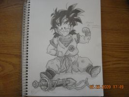 Drawing of gohan by StaticFOOL100