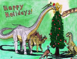Happy dino Holidays! by Pappasaurus