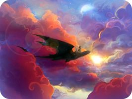 HTTYD Wallpaper: Cloud Jumpers by MoonFlamesd