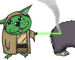 Yoda Cat by Toasted-Cookies