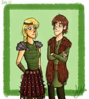 Astrid and Hiccup by Emma0724