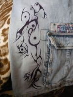 tribal on my shorts by Proteusz