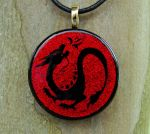 Blood Dragon Fused Glass by FusedElegance