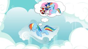 Rainbow Dash Sleeping by Nightfire3024
