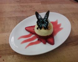 cheesecake with butterfly by shockiejuice