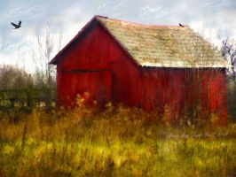 The Red Barn by SharonLeggDigitalArt