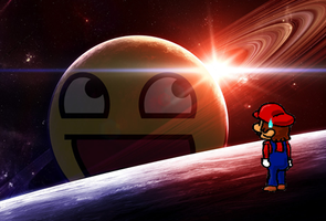 Mario galaxy 'secret' planet by BlazBestia