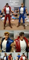 Billy and Jimmy Lee Double Dragon custom figures by Aremke