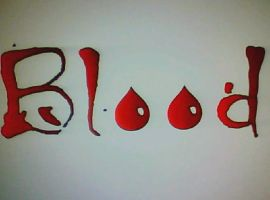 Blood Word Design by KayMayD