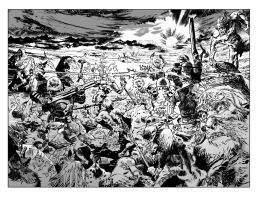 Undertow #3 spread BW by OXOTHUK