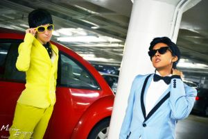Jae Suk and PSY by EclecticManiac