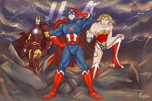 Avengers/JLA by IdentityPolution