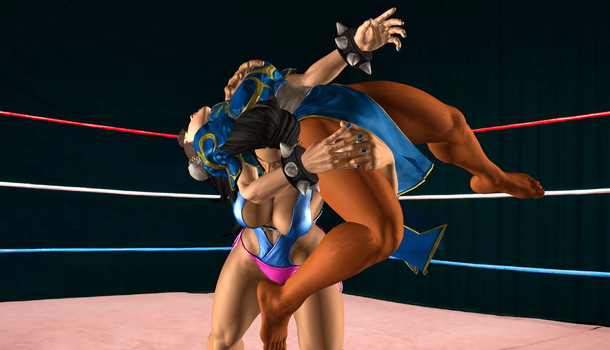 Laura Breaks Chun-Li 2 by NoelyPoly
