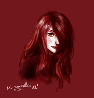 KP in red (speed doodle) by m-angela