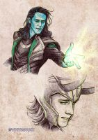 Loki sketches 02 by whiteshaix