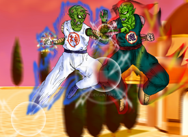 DBM Origins of Universe 3... Piccolo vs Kami by kibasennin