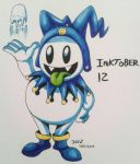 Inktober day 12 jack frost by megadrivesonic