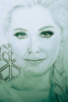 OUAT - Elsa | Portrait sketch A3 by AnimeFreak-Denise