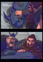 Toothless and Stoick by HollyBell