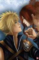 Cloud and Aerith by TyrineCarver