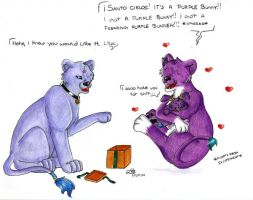 Fuzzy Purple Present for Lilac by BlueLumi