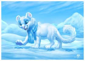 Snowy Cat by DolphyDolphiana