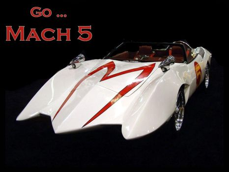 mach 5 speed racer car by puddlz