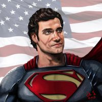 Man of Steel Henry Cavill by osx-mkx