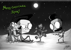 Christmas Gift for ToastyGoodness by Invader--ZIM