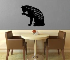 I Can Be Social Cat Wall Decal by GeekeryMade